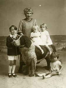 Belgium Oostende Riding Big Stuffed Dog Children Game Old Le Bon Photo 1920