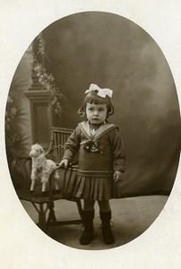 France le Petit Agneau Mouton Jeu d'Enfants Jouet Ancienne Photo 1920