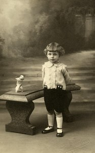 France Armentieres Little Toy Bear Children Game Old Leleu Photo 1920