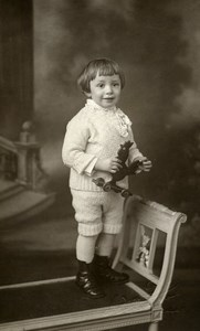 France Calais Jouet Coq à Tirer Jeu d'Enfants Ancienne Photo Modern-Photo 1930