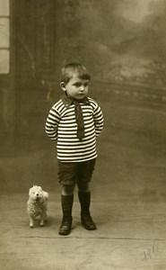 France Thiviers Petit Agneau Mouton Jouet Jeu d'Enfants Saint Royre Ancienne Photo 1918