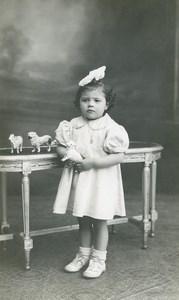 France Tourcoing Animaux de la Ferme Jouets Jeu d'Enfants Ancienne Photo Deltour 1920