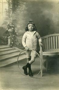 France Caudry Cerceau Jeu d'Enfants Jean-Paul Valette Ancienne Photo Regnier 1920