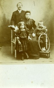 France Jeu d'Enfants Cerceau Famille Ancienne Photo 1920