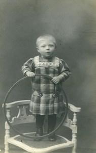 France Cerceau Chaise Jeu d'Enfants Ancienne Photo 1920
