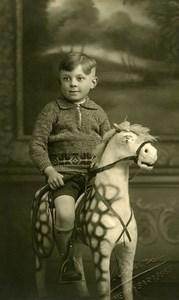 Belgique Menin Baraques Cheval de Bois Jeu d'Enfants Ancienne Photo Couvreur 1920