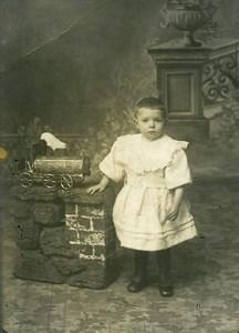 France le Train Jouet Jouet Jeu d'Enfants Ancienne Photo 1920