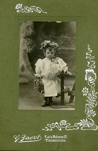 France Tourcoing Stuffed Animal Toy Children Game Costume Old Photo Baert 1900