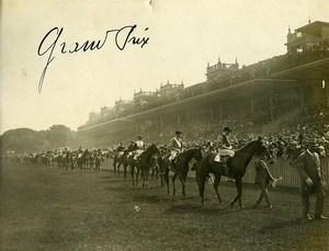 France Paris Sport Equestre Grand Prix Chevaux Ancienne Photo 1923