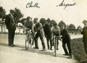 France Paris Sport Cyclisme Championnat Match Chilles Sergent Ancienne Photo 1923