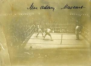 France Paris Sport Boxe Match Mac Adam Mascart Ancienne Photo 1923
