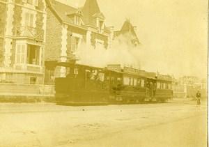 France Bretagne Paramé Tramway de St Servan Saint Malo Ancienne Photo 1900