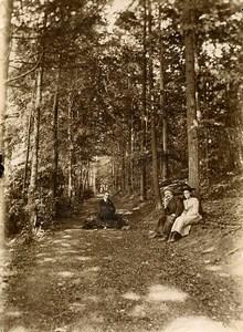 France Hucqueliers Promenade dans le Bois Foret Ancienne Photo 1900