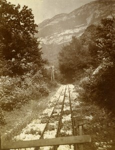 France Cogwheel Rack Railway Old Photo 1900