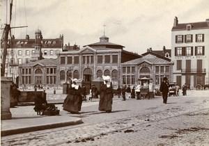 France Boulogne sur Mer Café de la Halle Hotel des Bains Old Photo 1900