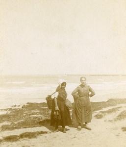 France Around Boulogne sur Mer? Fisherwomen Old Photo 1900