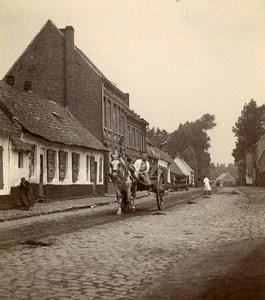 France Village Around Boulogne sur Mer Horse Cart Old Photo 1900