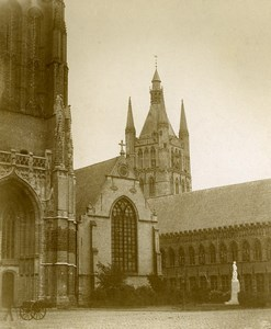 Netherlands Amsterdam? Monument Church Old Photo 1900