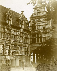 Netherlands Amsterdam? Old Houses Old Photo 1900