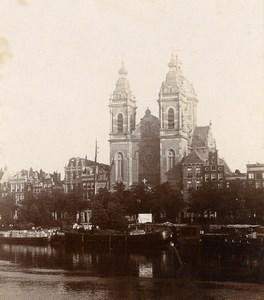 Netherlands Amsterdam Basilica of St. Nicholas Old Photo 1900