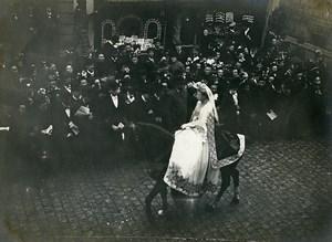 Belgique Bruges Procession Religieuse du Saint Sang Ancienne Photo 1900