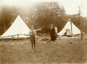 France Lille Region a scout camp Scouting Old Photo 1900