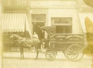 Belgium Brussels Vandoeren Mustard Transport Horse Delivery Old Photo 1900