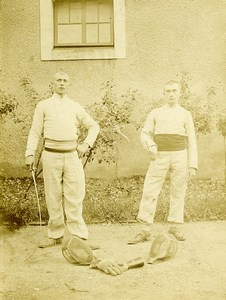 France Lille Region Fencers in Uniform Old Photo 1900