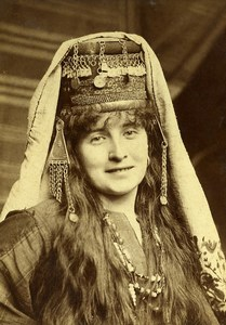 France Lille Region or Middle East? Woman in Oriental Costume Old Photo 1900
