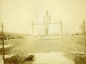 France Le Havre Gymnastics Competition Horizontal bar Old Amateur Photo 1910