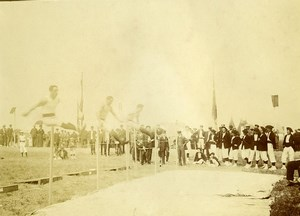 France Le Havre Gymnastics Competition High Jump? Old Amateur Photo 1910