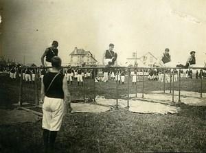 France Le Havre Gymnastics Competition Parallel bars Old Amateur Photo 1910