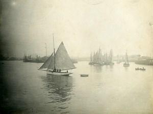France Le Havre Sailboats Seaside Old Amateur Photo 1910