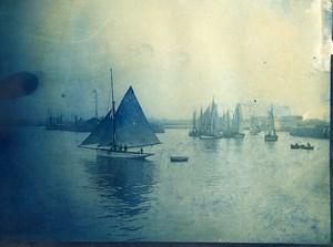 France Le Havre Boat Sailboats Old Amateur Photo 1910