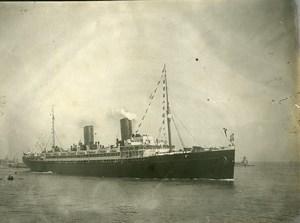 France Le Havre bateau Paquebot Ancienne Photo Amateur 1910