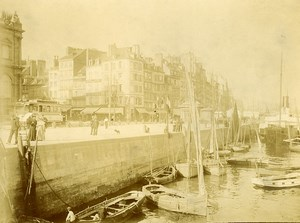 France Le Havre le Port Front de Mer Barques Ancienne Photo Amateur 1910