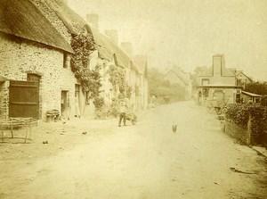 France Campagne pres de Trouville Café Village Ancienne Photo Amateur 1910