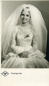 Publicity for Agfa paper Portriga 132 Bride Portrait old Photo 1960