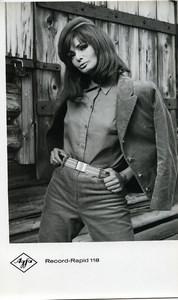 Publicité pour papier Agfa Record-Rapid 118 Portrait Femme Ancienne Photo 1960