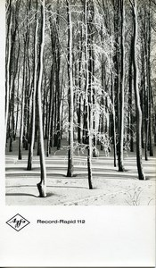Publicity for Agfa paper Record-Rapid 112 Winter Forest old Photo 1960