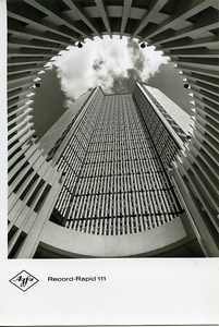 Publicity for Agfa paper Record-Rapid 111 Architecture Abstract old Photo 1960