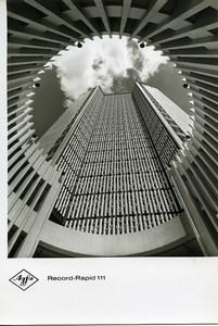 Publicité pour papier Agfa Record-Rapid 111 Architecture Abstrait Ancienne Photo 1960