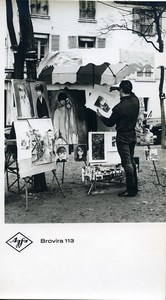 Publicity for Agfa paper Brovira 113 Painter Artist old Photo 1960