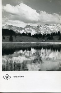 Publicity for Agfa paper Brovira 112 Mountains Reflection old Photo 1960