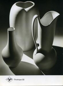 Publicité pour papier Agfa Portriga 112 Vases Ceramique Ombres Ancienne Photo 1960