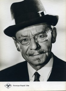 Publicity for Agfa paper Portriga-Rapid 114e Man Hat & Glasses old Photo 1960