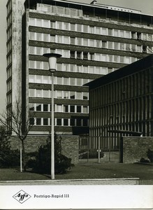 Publicity for Agfa paper Portriga-Rapid 111 Architecture Building old Photo 1960