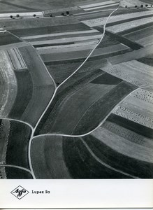 Publicity for Agfa paper Lupex 2a Countryside Aerial View old Photo 1960