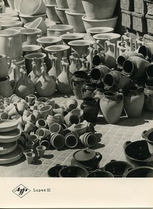 Publicity for Agfa paper Lupex 21 Pottery Pots old Photo 1960