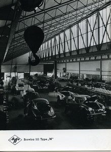 Publicité pour papier Agfa Brovira 111 Ligne de Montage Porsche? Ancienne Photo 1960